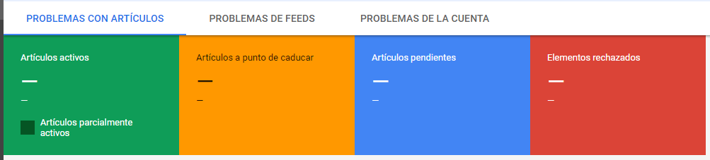 errores en google merchat center