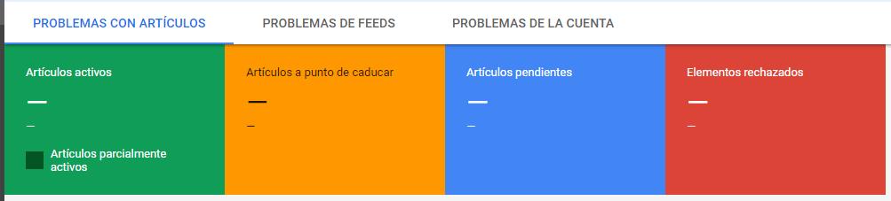errores en google merchat center