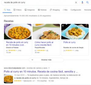 Rich Snippets de recetas 300x279 - ¿Cómo conseguir Rich Snippets en Google ?